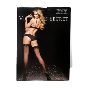 Victoria's Secret Lace Top Thigh High Seam Lingeri